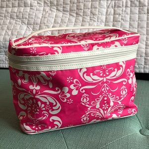 Accessories - 2-Cute pink &white make up bag travel bag Lancôme
